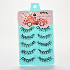 5Pairs~Natural Soft Eye Lashes Makeup Handmade Thick Fake False Eyelashes Vogue