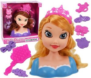 Dolls Hair Styling Head With Accessories Kids Girls Hairstyling Doll Toy Playset