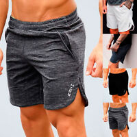 Summer Breathable Mens Shorts Gym Sports Running Fitness Casual Short Pants