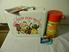 1974 ALADDIN THE NEW ZOO REVUE VINYL LUNCH BOX AND THERMOS MINT WITH TAG