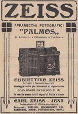 Z2870 Apparecchi fotografici PAMOS - Carl ZEISS Jena - Pubblicità - 1909 old ad