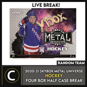 2020-21 UPPER DECK SKYBOX METAL HOCKEY 4 BOX BREAK #H1153 - RANDOM TEAMS