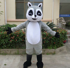Grey Raccoon Mascot Costume Panda Bear Adult Dress Animals Parade Outfit Cosplay