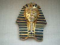 Vintage brooch stamped 'Tutankhamen Modele Adrian Mann London' C1980s