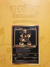 Pokemon Base 1st Mr Mime Gold LUXURY CARD custom card Christmas gift
