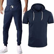 Tuta Uomo Maglia con Cappuccio Pantaloni T-shirt Mezza Manica GIROGAMA 6389T