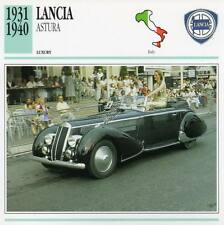 1931-1940 LANCIA ASTURA Classic Car Photograph / Information Maxi Card
