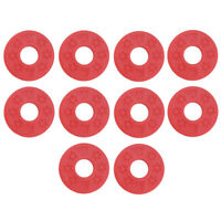 10 Pcs Guitar Strap Block Rubber Safety Strap Lock Washer Saver for Bass Red