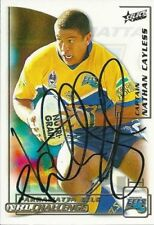 Autographed Single 2002 Season NRL & Rugby League Trading Cards