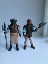 Vintage Star Wars Figures Klattu And Weequay Skiff Guards Complete Original..