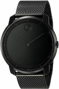 ✔ Movado 3600261 Swiss Bold Black Ion Plated Stainless Steel Mesh Bracelet Watch