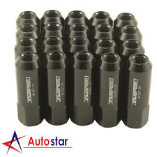 Black 20PCS Alloy racing Wheel Tuner Lug Nuts Aluminum For Nissan Subaru