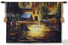 """Port Of Call Nautical Scene Wall Tapestry Harbour View 38""""x53"""""""