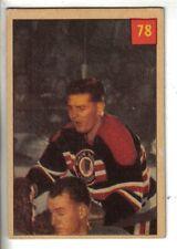 1954-55 Parkhurst Hockey Card #78 Al Dewsbury Chicago Black Hawks EX.