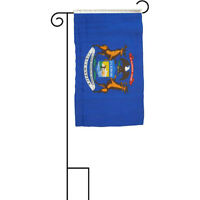 """12x18 12""""x18"""" State of Michigan Sleeved w/ Garden Stand Flag"""