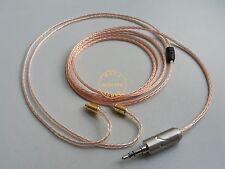 1.2meter 8N OCC Cable UE900 Shure SE315 SE425 SE535 Furutech 3.5mm Rhodium plug
