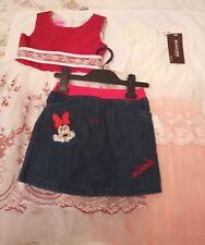 Girls clothes bundle, 2 beautiful dresses & denim Minnie mouse skirt, age 5-6