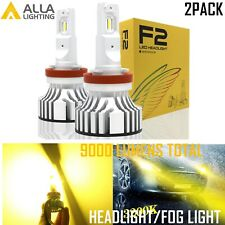 Alla Lighting H16 LED Brightest Quality Gold-Yellow Fog Light Bulb Driving Lamp