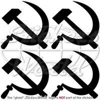 HAMMER & SICHEL sowjetischen Kommunistischen Sticker Aufkleber JEDE FARBE 50mm