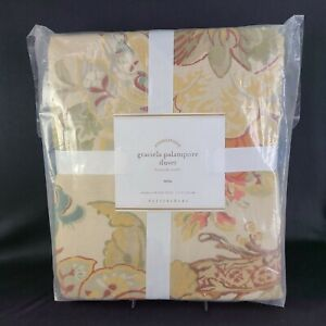 Pottery Barn Twin Duvet Cover Floral Foundations Graciela Palampore Flowers New
