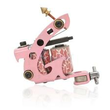 New Pro 10 Wrap Coils Tattoo Machine Gun Supply Set for Liner & Shader Pink USA