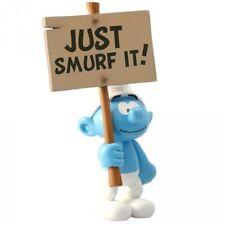 Les Schtroumpfs figurine Schtroumpf Pancarte Just Smurf It sign Collectoys 01791