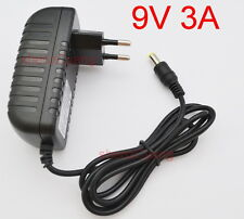 AC 100V-240V Adapter DC 9V 3A Switching power supply Charger EU DC 5.5mm 3000mA
