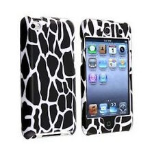 For Apple iPod Touch 4th Gen 4G Black Giraffe Animal Print Full Hard Case Cover