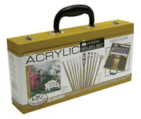 Künstler Acryl Lack Holz Box Set & Deluxe Fusion Bürsten Malen ACRY2010