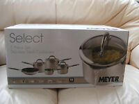 New Meyer Select Stainless Steel 5 Piece Set Saucepan Milkpan Skillet Cookware