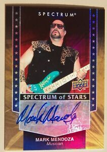 Twisted Sister Mark Mendoza Signed 2008 Upper Deck Spectrum of Stars Auto Card