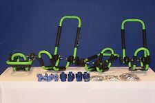 2 Sets Electric Lime Green Roof Mounted Folding Kayak Racks PK-KR FOLD GREEN2