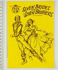 More details for seven brides for 7 brothers british premiere theatre souvenir programme 1984 vtg