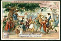 Farmers Dance In Holland 1500 NICE c1903 Trade Ad  Card