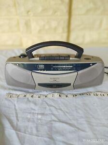Retro ROBERTS SC 9908 3 Band Stereo Radio Cassette Recorder Clock Alarm,FM/AM
