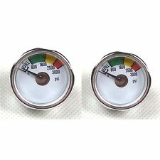 New 2 x 3000 PSI Paintball Micro Gauge-CO2