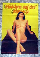 MÄDCHEN AUF DER MATRATZE * A1-FILMPOSTER - German 1-Sheet ´78 Croisiere Erotique