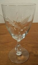 5 Tiffin Franciscan LADY CAROL Etched Crystal Water Goblets 6.5""