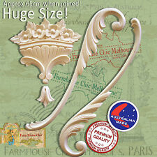Resin Furniture Appliques  4 piece set Shabby Chic Scrolls Moldings Decorations