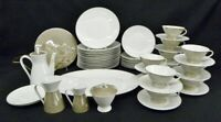 57 Pc. MCM Rosenthal Continental Crystalline Taupe China Set for 10 ; Mint (88)