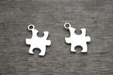 30pcs-Puzzle Piece Charms silver Tone Puzzle Piece charm pendants 18x14mm