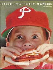 1967 PHILADELPHIA PHILLIES Baseball Yearbook Bunning Callison Allen Short VG+