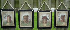Outhouse Sayings Wooden Wall Plaques Primitive Rustic Lodge Bathroom Cabin Decor