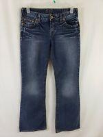 Silver Jeans Aiko Womens Blue Denim Size 31 x 33 Flare / Boot Cut Dark Wash