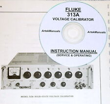FLUKE 313A Voltage Calibrator Manual , Operating & Service w/Schematics