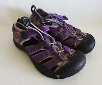 Keen Youth Water Hiking Sandals Purple Size 3 Girls Closed Toe Bungee Sandals