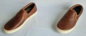 Mens Size 9.5 Brown Sperry Plushwave Top-Sider Leather Casual Shoes STS22749