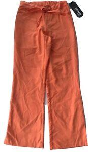 Greys Anatomy XXS Orange Scrub Pants Professional Wear Women Logo Lounge Logo