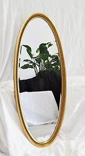Ovalspiegel Wandspiegel Gold 151x61 cm OVAL SPIEGEL elegant stilvoll