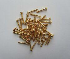 Pack of 100 Gold Humbucker Pickup Ring Screws LP Pickup Frame Surrounds Screws